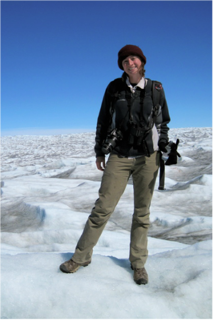 Hannah on the Russell Glacier, Kangerlussuaq, Greenland